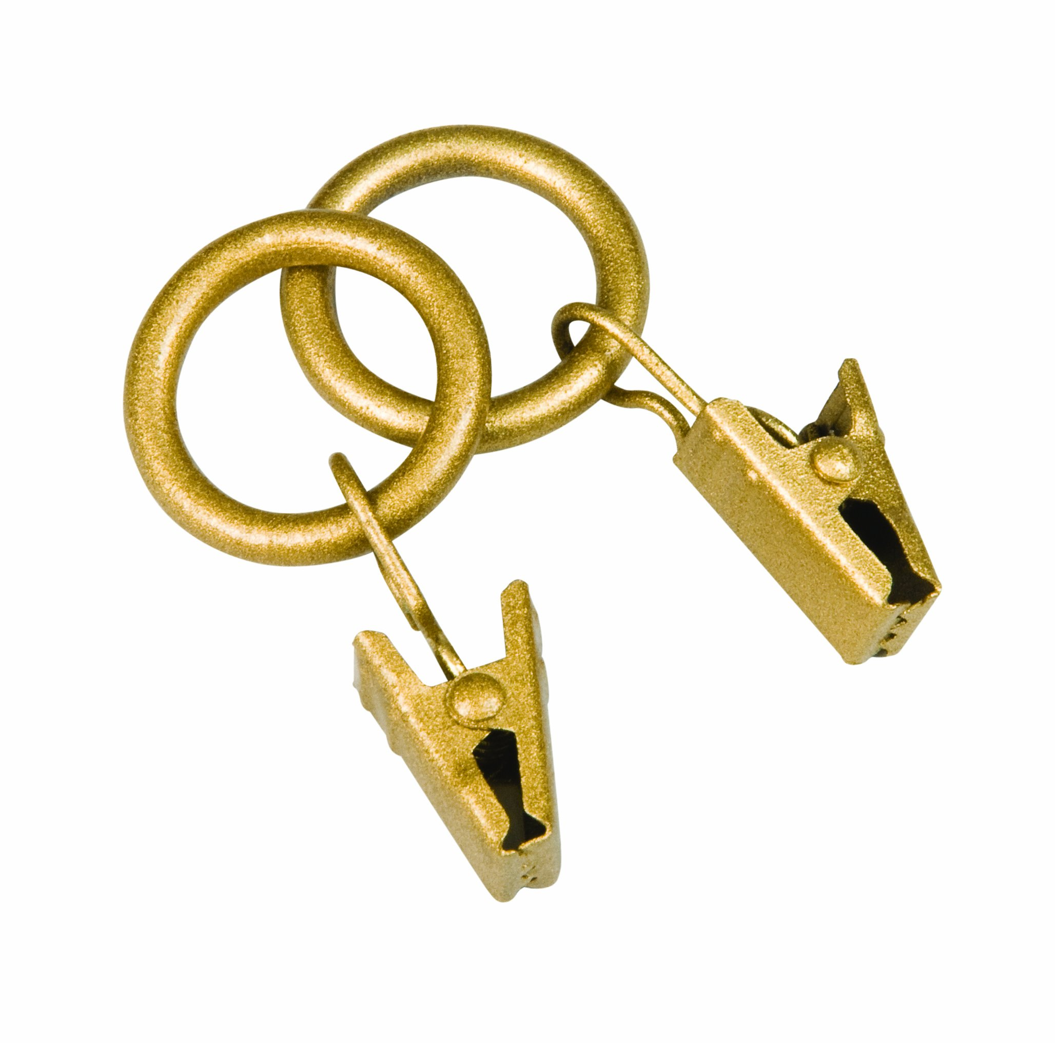 Kenney Petit Window Curtain Clip Rings, 14-Pack, Gold