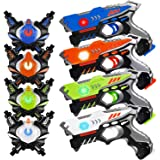 HISTOYE Laser Tag Guns Sets of 4 Players Game Laser Tag Sets with Gun and Vest Indoor Outdoor Toy Gun Battle for Boys Toys Ag