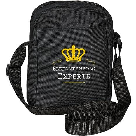 Bolso bandolera con diseño de elefantes Polo experto colour negro ...