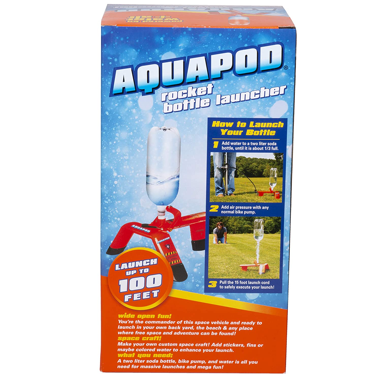 Aquapod Water Bottle Rocket Launcher - Launch 2 Liter Soda Bottles Up to  100 ft in the Air - The Cool Backyard Toy Gift that makes Outdoors Fun for