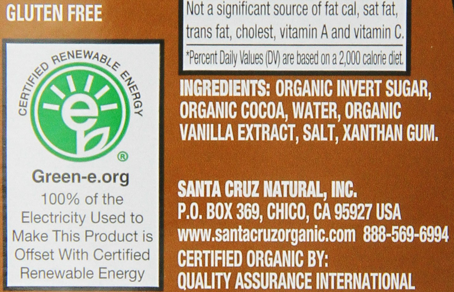 Santa Cruz Organic Chocolate Syrup, 15.5 Ounce (Pack of 12) by Santa Cruz Organic (Image #3)