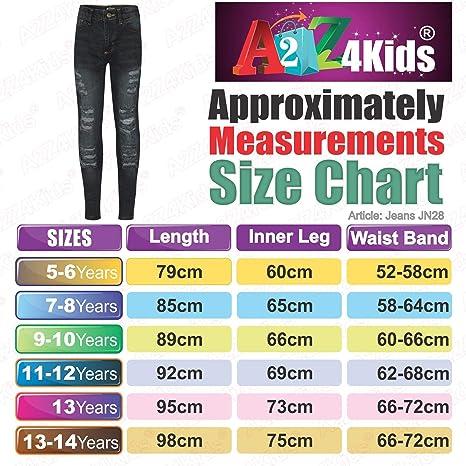 Girls Jeans JN28 Jet Black 13 Kids Girls Skinny Jeans Denim Ripped Fashion