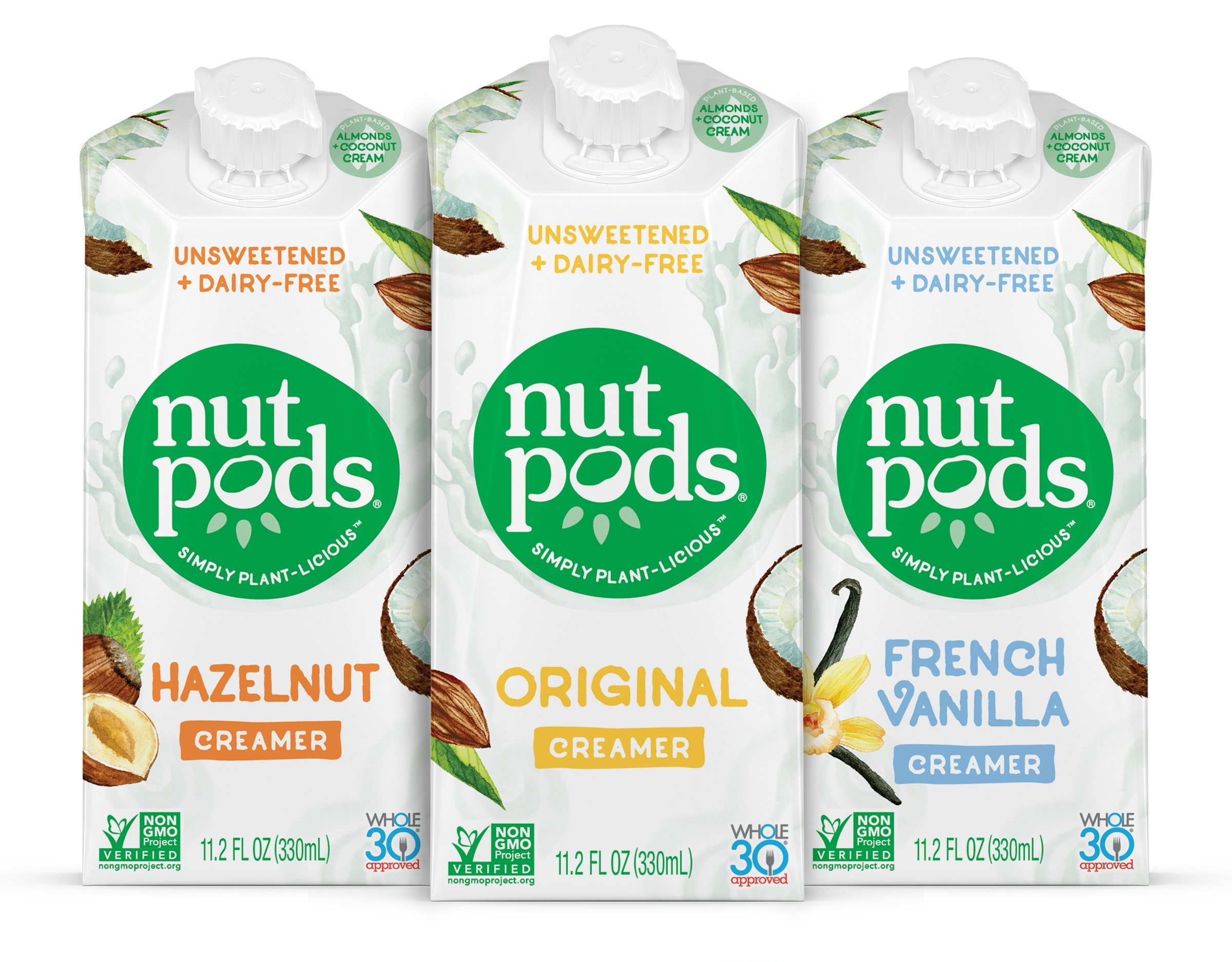 nutpods Dairy Free Coffee Creamer Unsweetened (Variety 3-pack) - Whole30 / Paleo / Keto / Vegan / Sugar Free