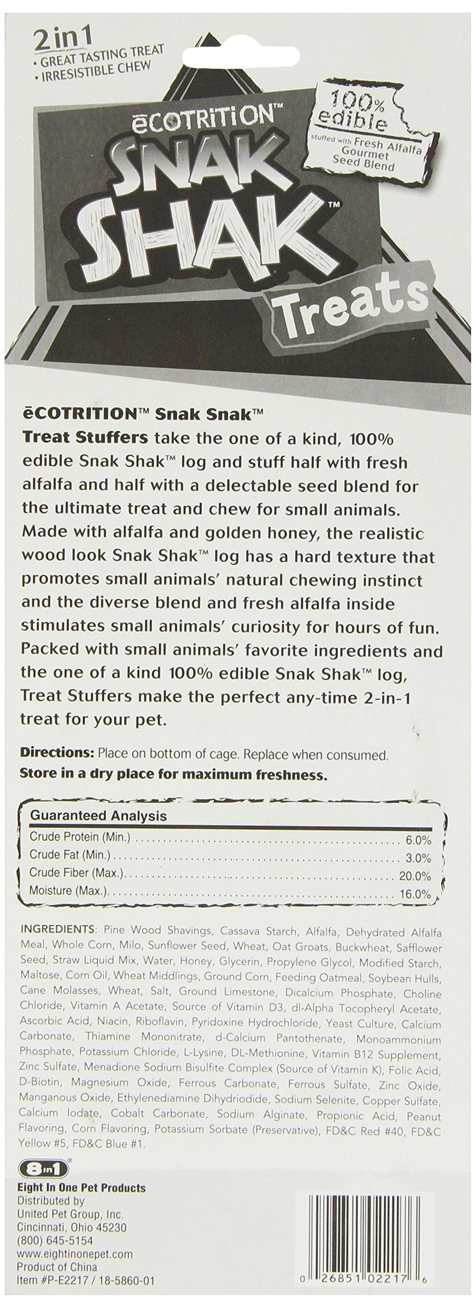 Ecotrition Snak Shak Treat Stuffer For Rabbits, Guinea Pigs And Chinchillas, Chewable