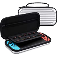 Case for Nintendo Switch - Tendak Game Case Bag with 10 Game Card Storage, Screen Protector Glass and Mesh Pocket Protective Travel Case Gift for Nintendo Switch Accessories Joy-Con