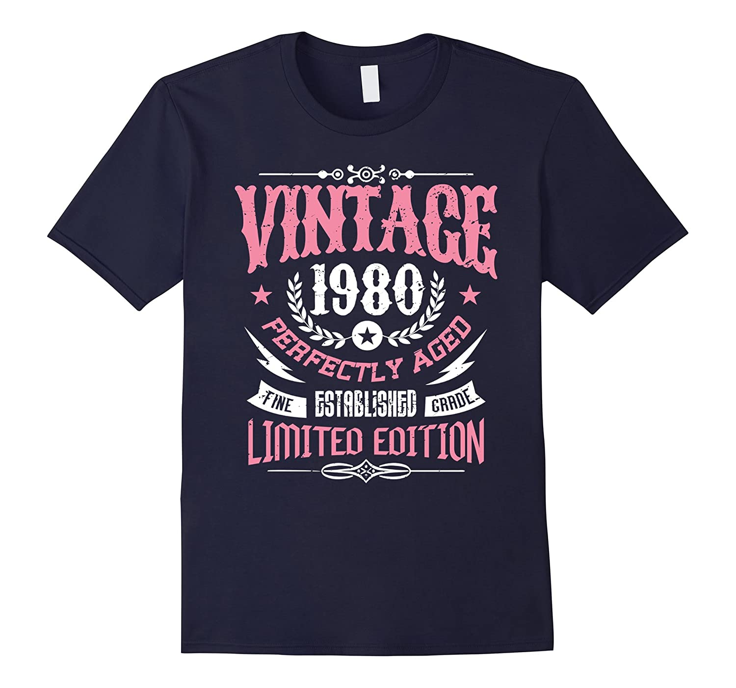 37th Birthday Gift T-Shirt Vintage 1980 - 37 Years Old Shirt-PL