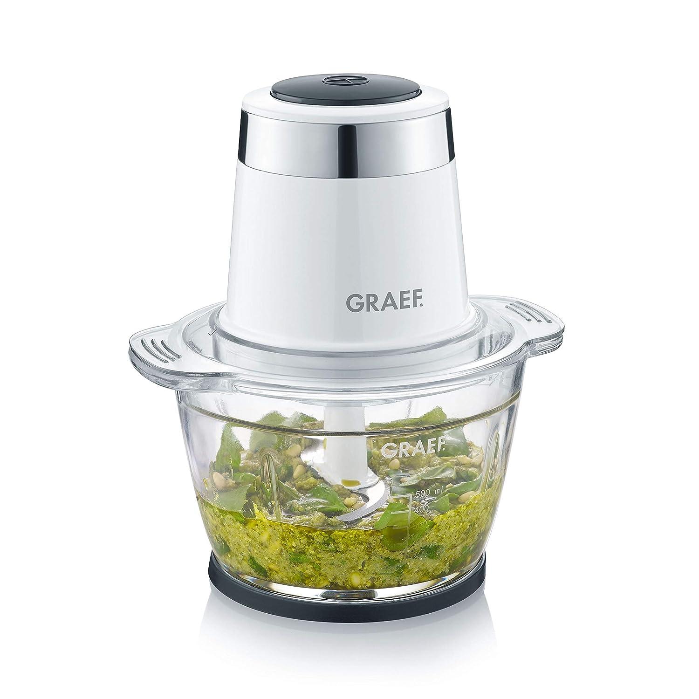 Vidrio cortar mezclar alimentosy para la preparaci/ón de alimentos para beb/és 500 W Graef CH501EU Picadora Ideal para picar Blanco