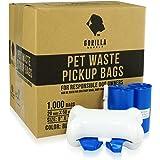Gorilla Supply 1000 Pet Poop Bags w Free Dispenser