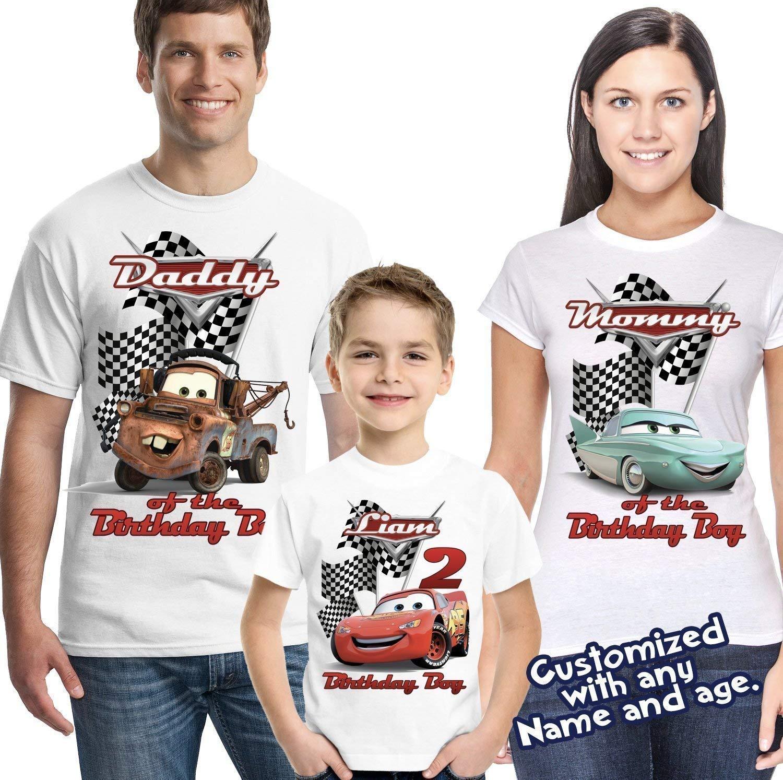 Amazon Lightning McQueen Cars Personalized Birthday Shirt