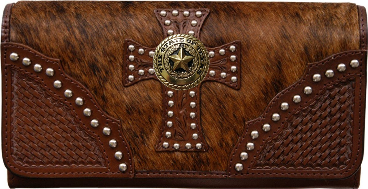 Custom Gold Texas Seal Natural Hair Christian Clutch Wallet with removable checkbook