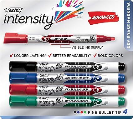 BIC Magic marcador marcadores de borrado en seco 4 Color Pack ...