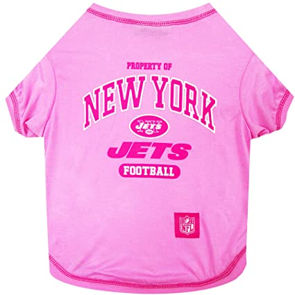 cf65200d Amazon.com : Pets First New York Jets Pink T-Shirt, Medium : Pet ...