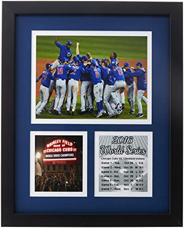 3023eb27e Frames by Mail Chicago Cubs 2016 World Series Collage Framed Photo, 11 x 14,