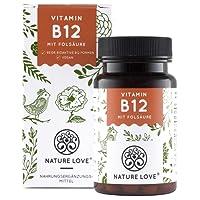 Der VERGLEICHSSIEGER 2018*: Vitamin B12 - 1000 µg. 180 Tabletten. Beide bio-aktive B12 Formen Adenosyl- & Methylcobalamin sowie Depot. 5-MTHF Folat, die aktive und höchst bioverfügbare Folsäure. Vegan, hochdosiert, hergestellt in Deutschland