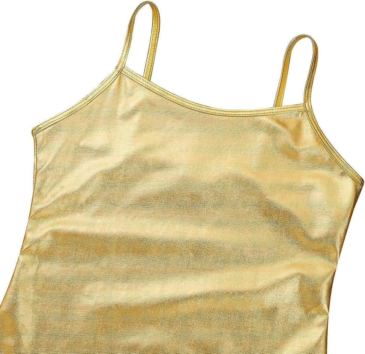 TiaoBug Enfant Fille D/ébardeur Gilet de Sport Haut Danse Ballet Bretelle T-Shirt Cuir Gymnastique Tank Tops sans Manche Veste Costume Performance 4-12 Ans