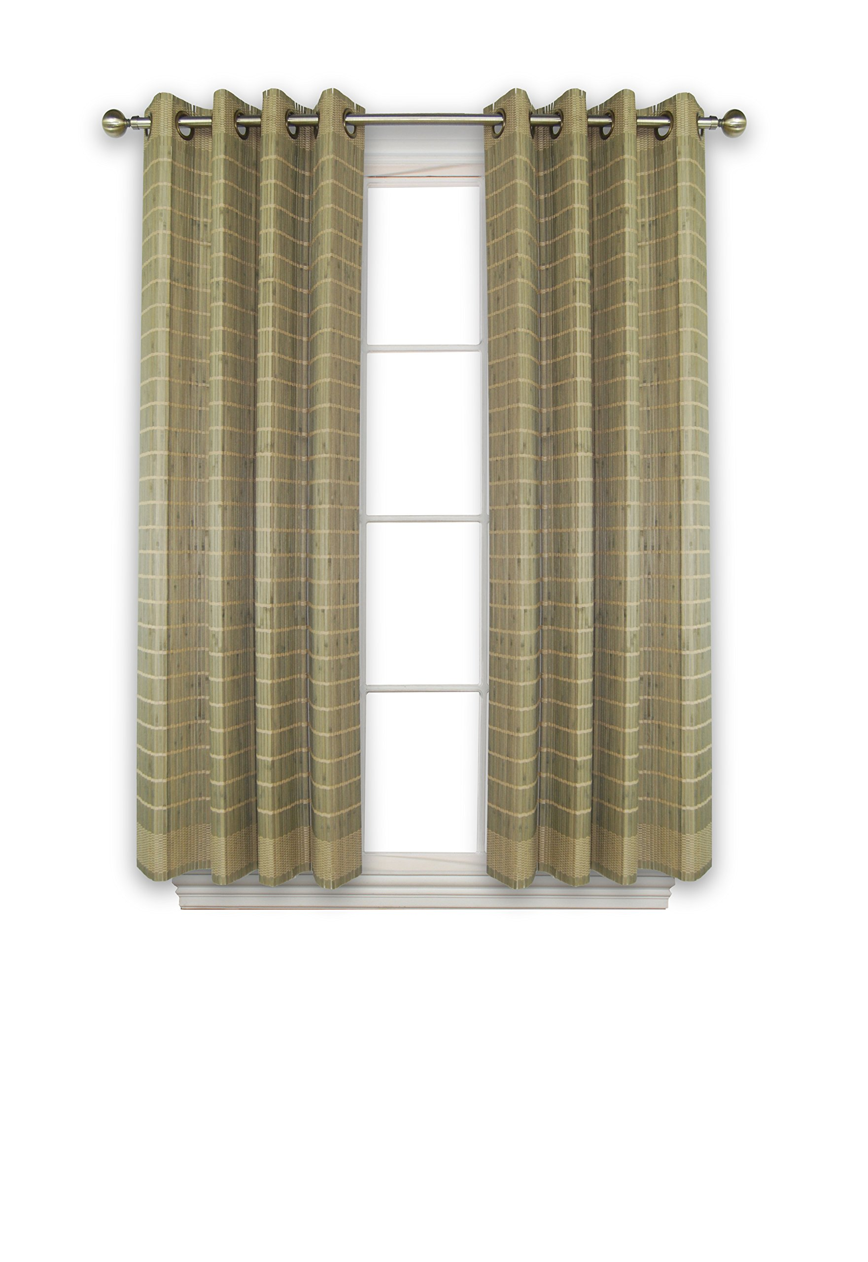 Versailles Home Fashions BPU144263-25 Bamboo Wood Curtain Panel with Grommets, 42'' x 63'', Driftwood