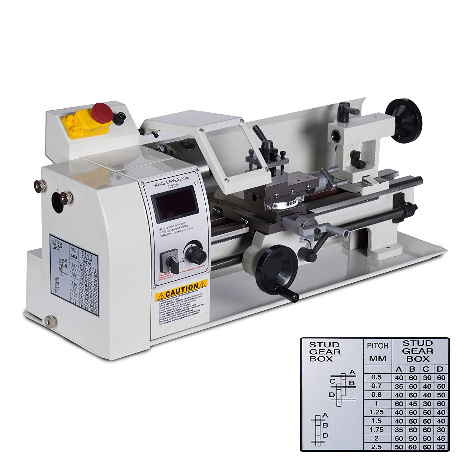 Orion Motor Tech 8 X 14 Mini Metal Lathe Variable Reversing A Speed 2500 Rpm 600w Milling Bench Top Machine With Digital Control System