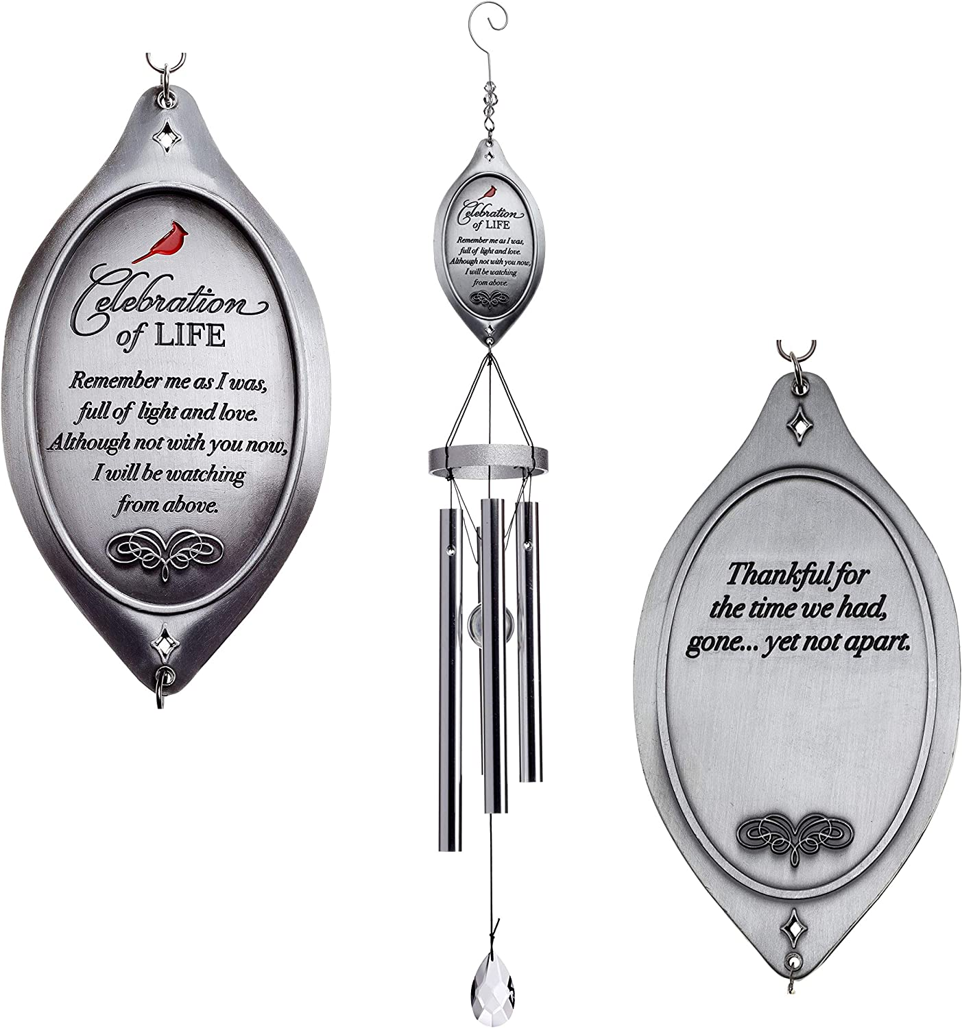 Celebration of Life Memorial Wind Chimes in Memory of Loved One - Ideal Sympathy Gift/BereavementGift: Home & Kitchen
