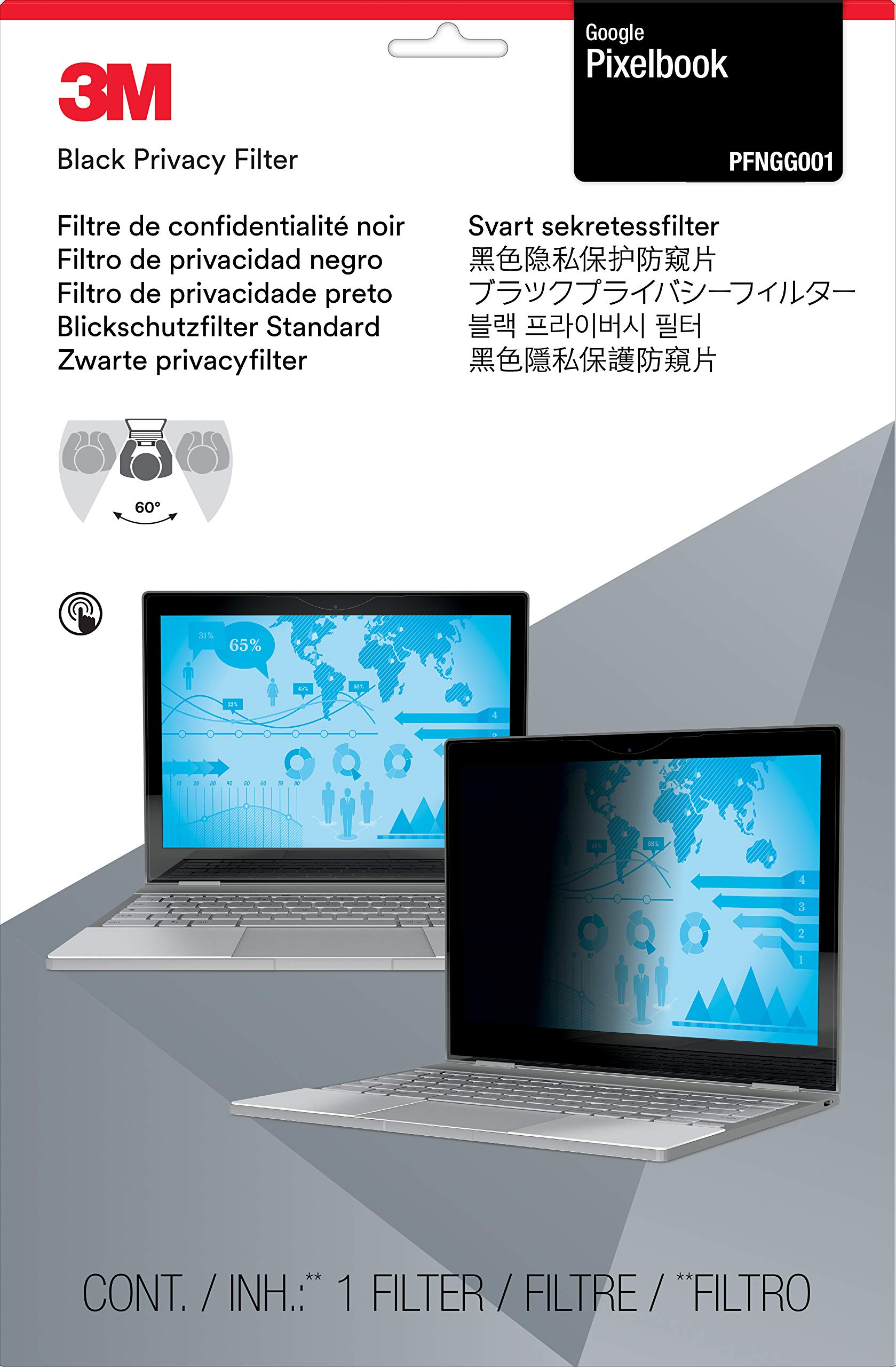 3M Privacy Filters Filter for Google Pixelbook (PFNGG001) by 3M (Image #2)
