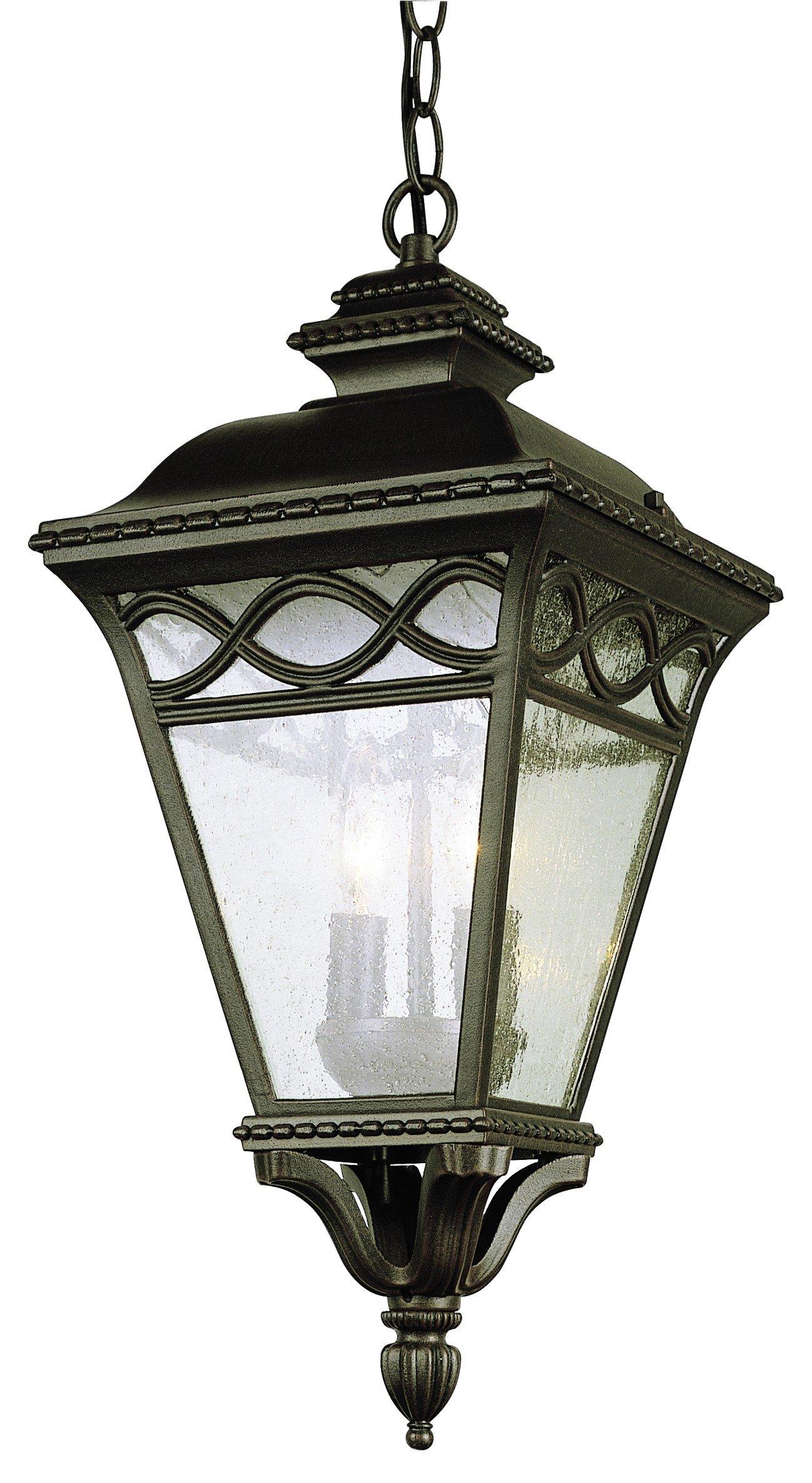 Trans Globe Lighting 50516 RT Outdoor Candlewood 21'' Hanging Lantern, Rust