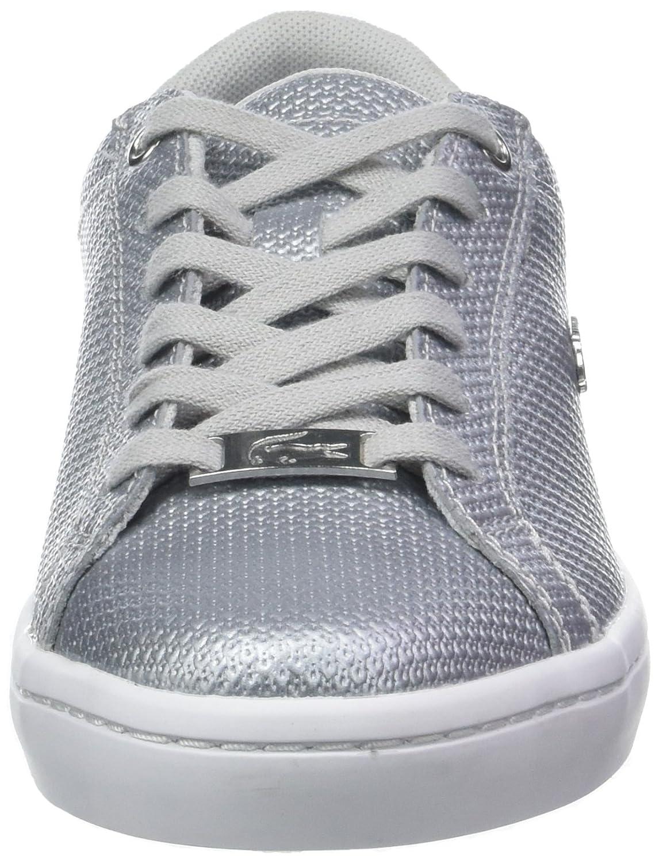 5583b58046e Lacoste Women s Straightset 318 2 Caw Trainers White (SLV Wht 19l) 4 UK   Amazon.in  Shoes   Handbags