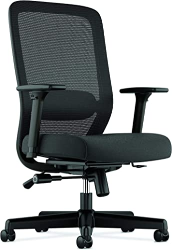 HON BSXVL721LH10 Exposure Mesh Task Chair – Computer Chair with 2-Way Adjustable Arms for Office Desk, Black HVL721 Renewed
