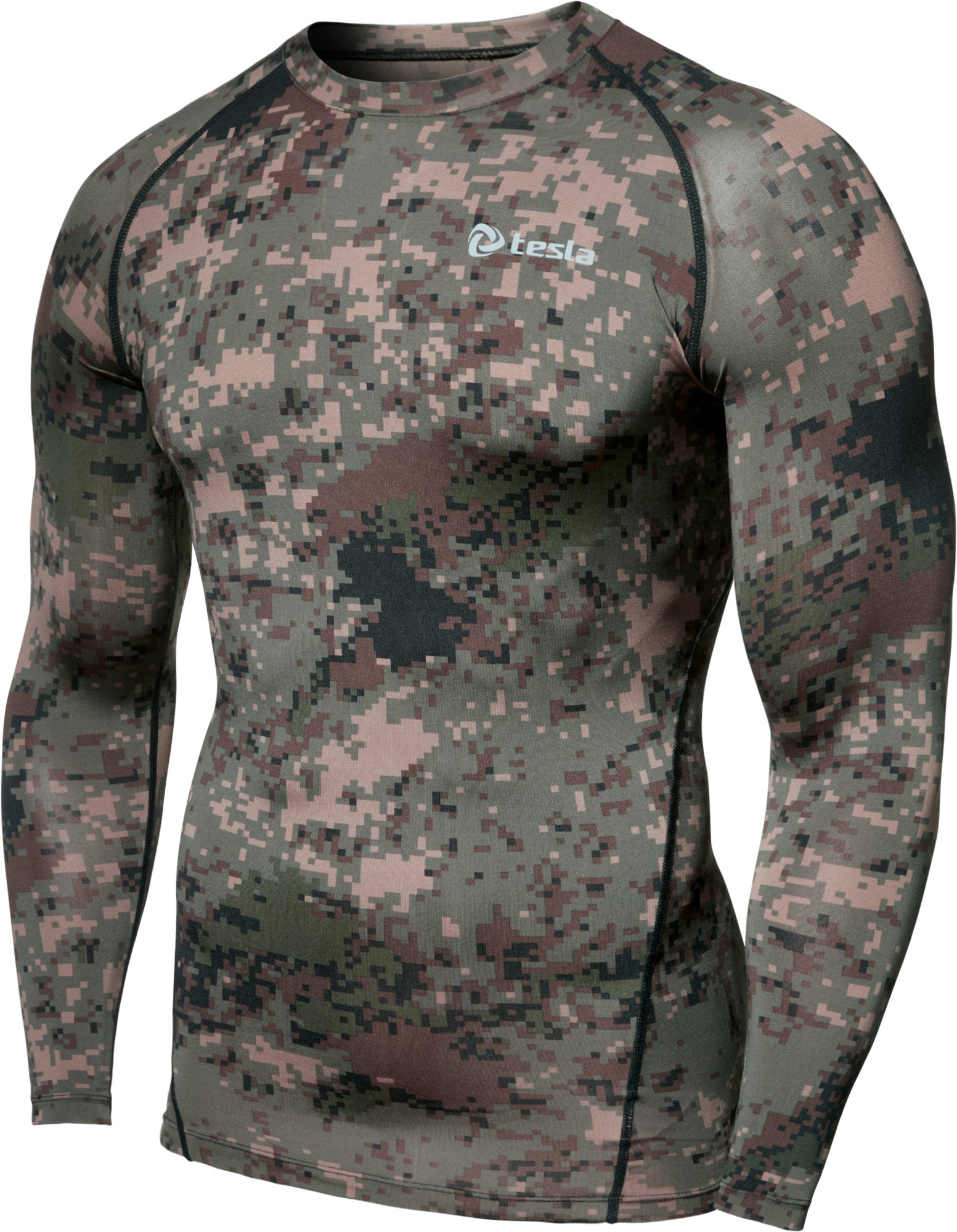 TSLA Men's Long Sleeve T-Shirt Baselayer Cool Dry