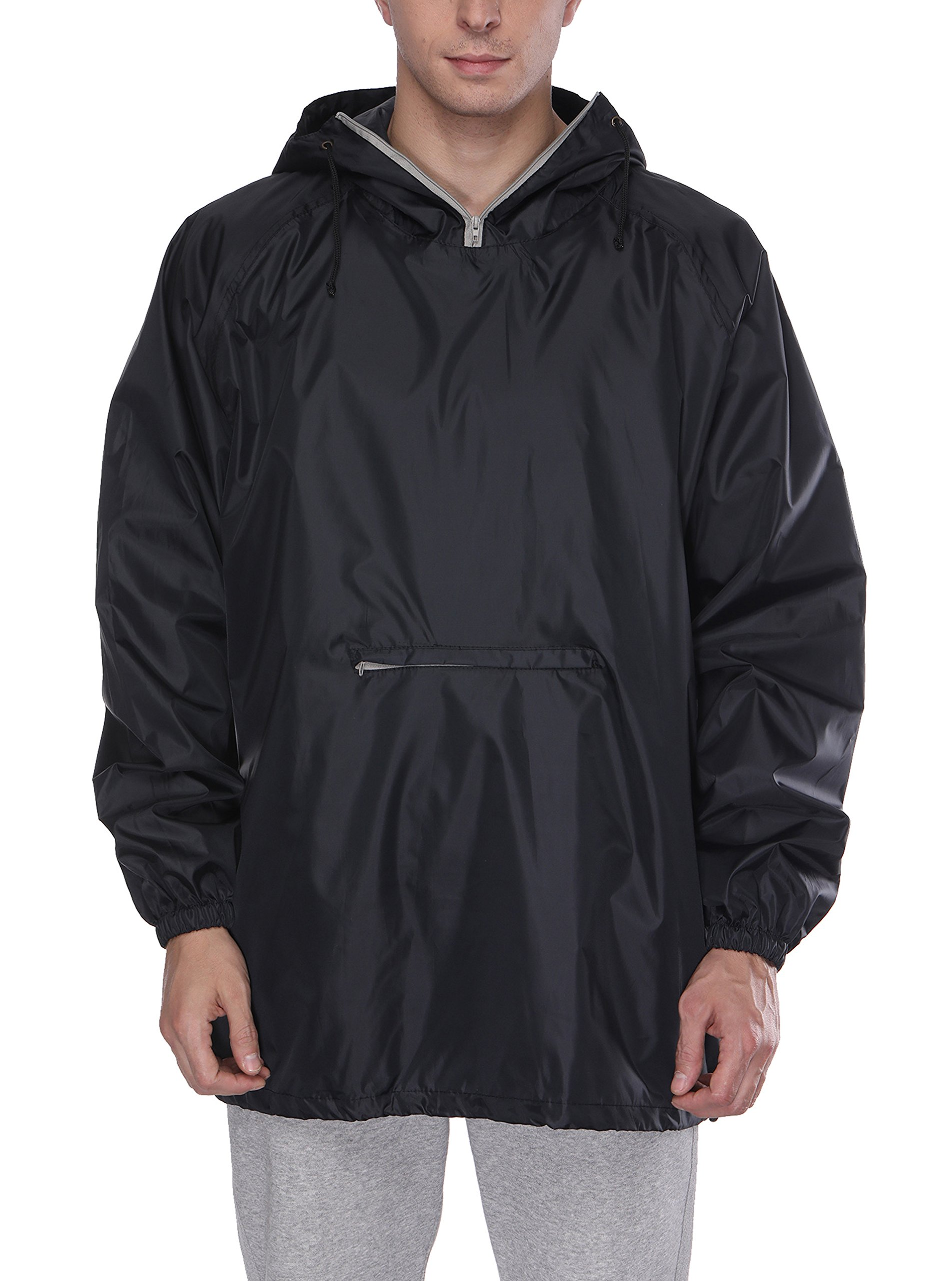 SWISSWELL Men's Classic Rain Jacket with Hood Black Small by SWISSWELL
