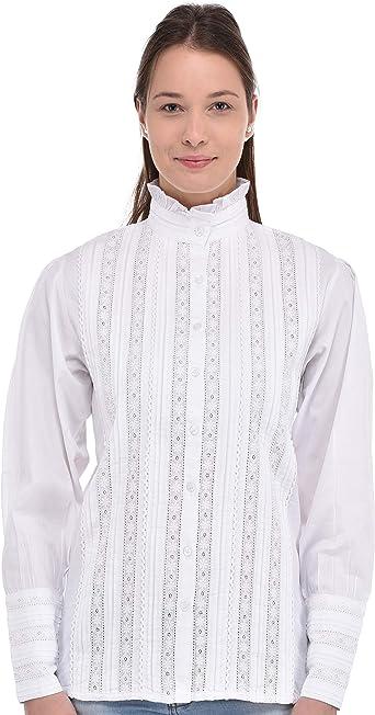 Cotton Lane Blusa del cordón de algodón Blanca Femenina ...