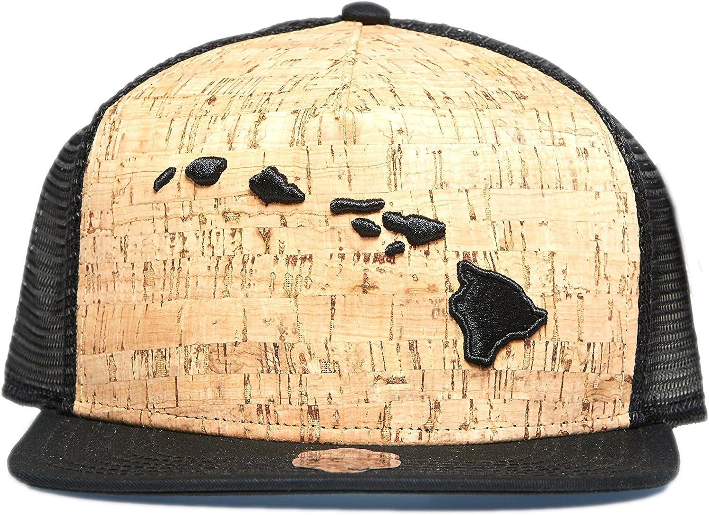 808 Clothing Co. 3D Hawaiian Islands Cork Trucker Hat