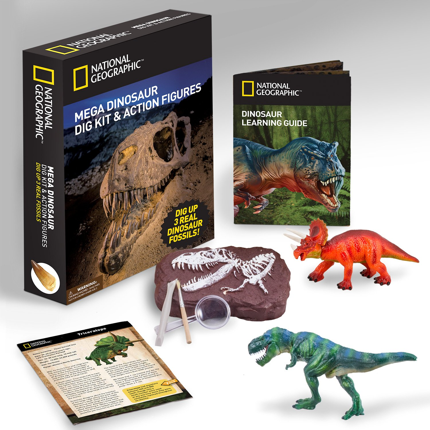 Amazon NATIONAL GEOGRAPHIC Mega Dinosaur Fossil Dig with 2