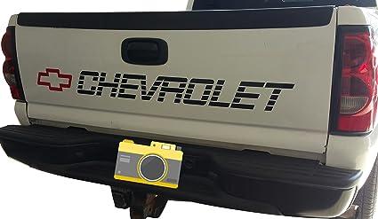 bbd267f1c6 Amazon.com  Orafol Silverado Tailgate Decal CHEVROLET Bed Sticker ...
