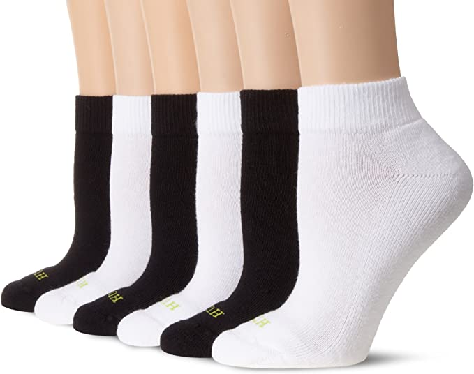 Womens Casual Print Low Cut Ankle Quarter Cushion Socks Non-slip Elastic Socks