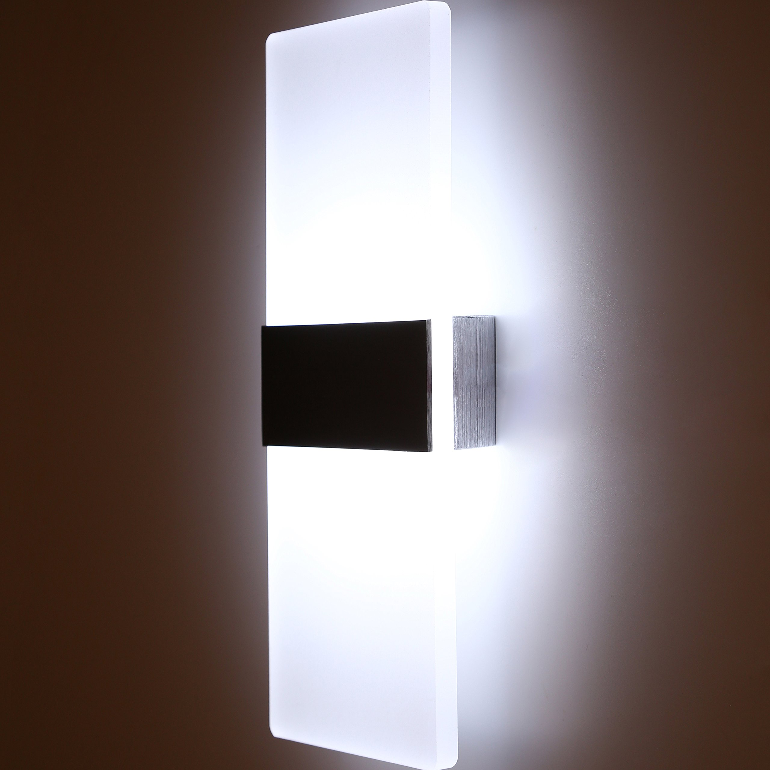 Topmo Modern Acrylic 12w LED Wall Sconces Aluminum Lights Decorative Lamps Night Light for Pathway, Staircase, Bedroom, Balcony ,Drive Way,cold white 840LM(6000K)29114.8CM