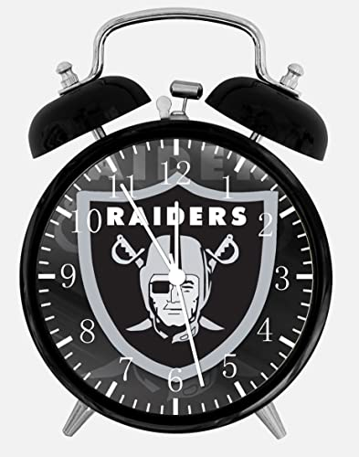 Raiders Twin Bells Alarm Desk Clock 4 Home Office Decor E438 Nice for Gifts