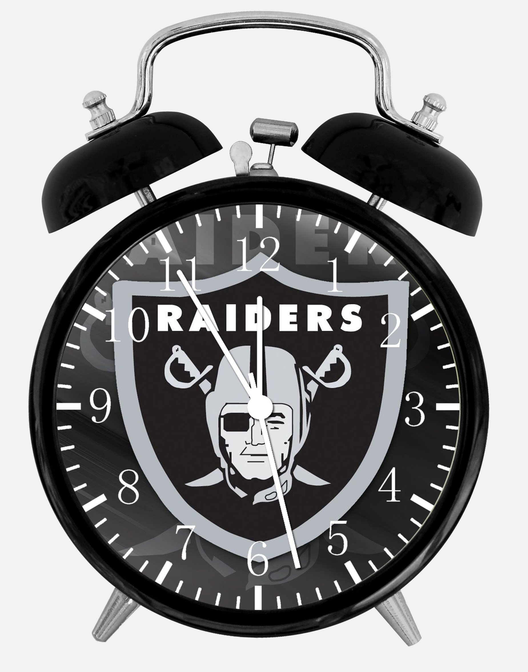 Raiders Alarm Desk Clock 3.75'' Home or Office Decor E438 Nice For Gift