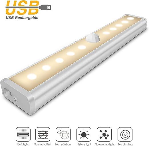 Iyowin Lámpara LED del Armario, 10 LEDs Barra de Luz Inalámbrica ...
