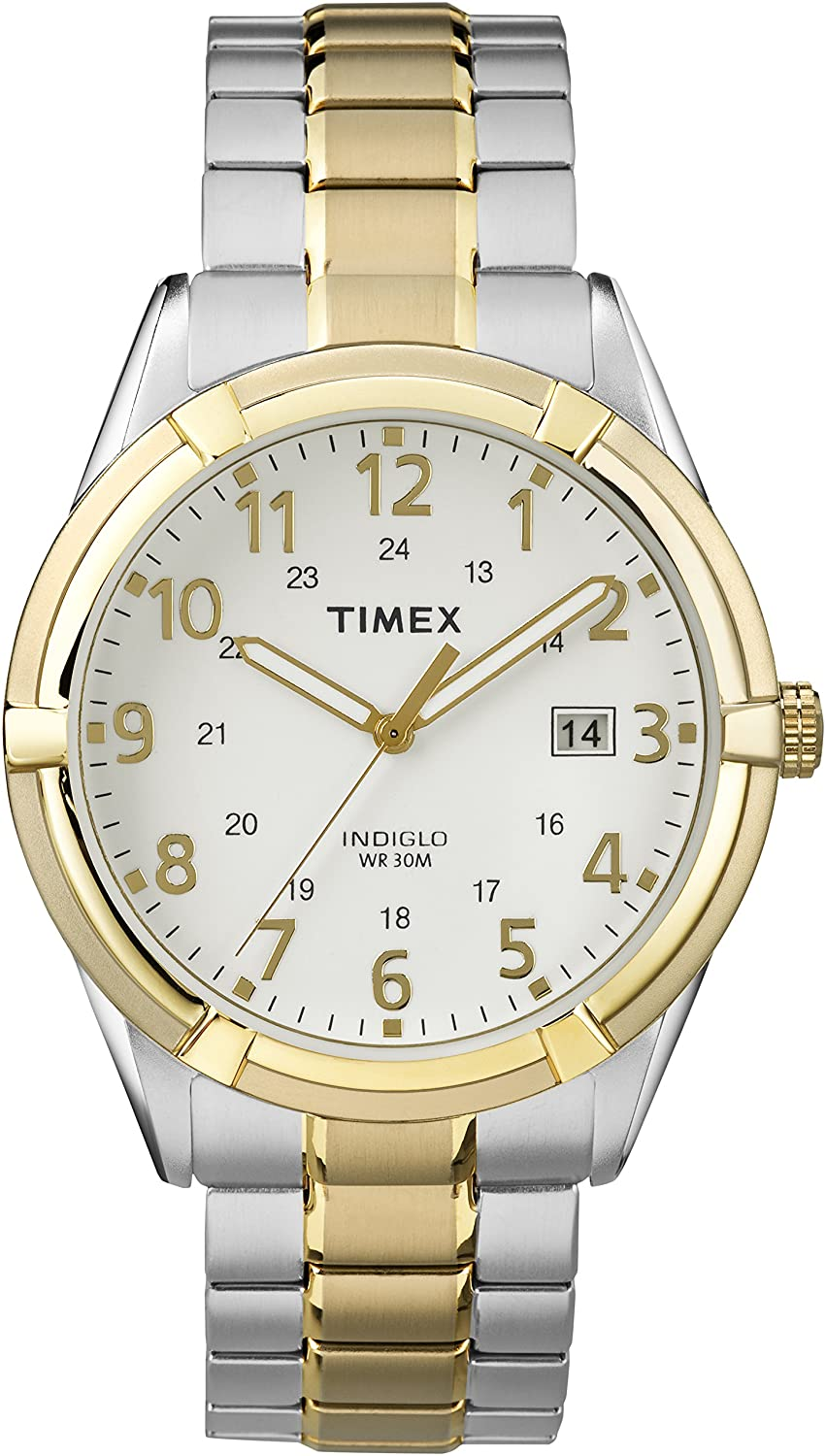 CDM product Timex TW2P89300GP Men's Classic White Dial and Two Tone Stainless Steel Expansion Band Watch big image