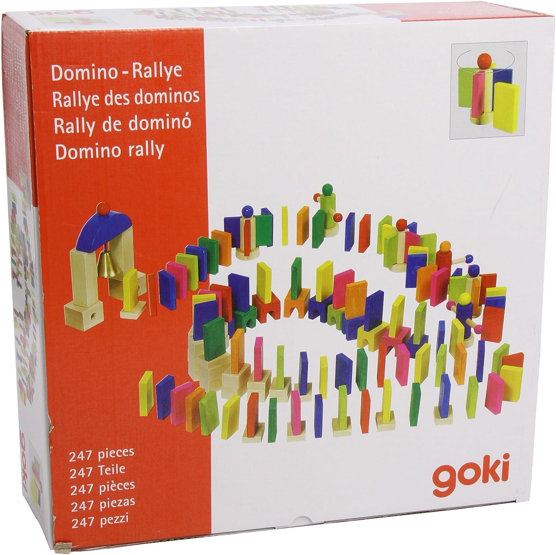 Goki 58963 - Juego de fichas de dominó de colores: Amazon.es: Juguetes y juegos