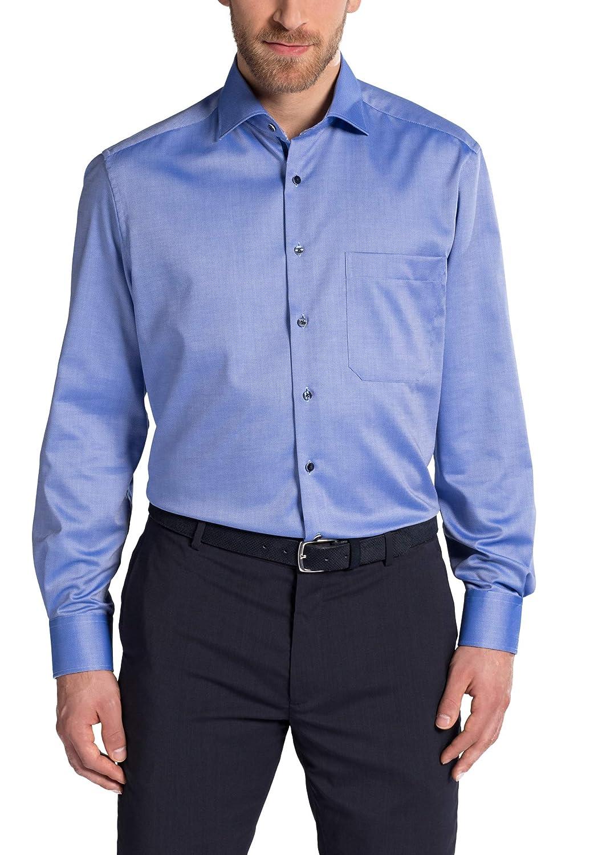 Eterna Long Sleeve Shirt Comfort FIT Natté Structured