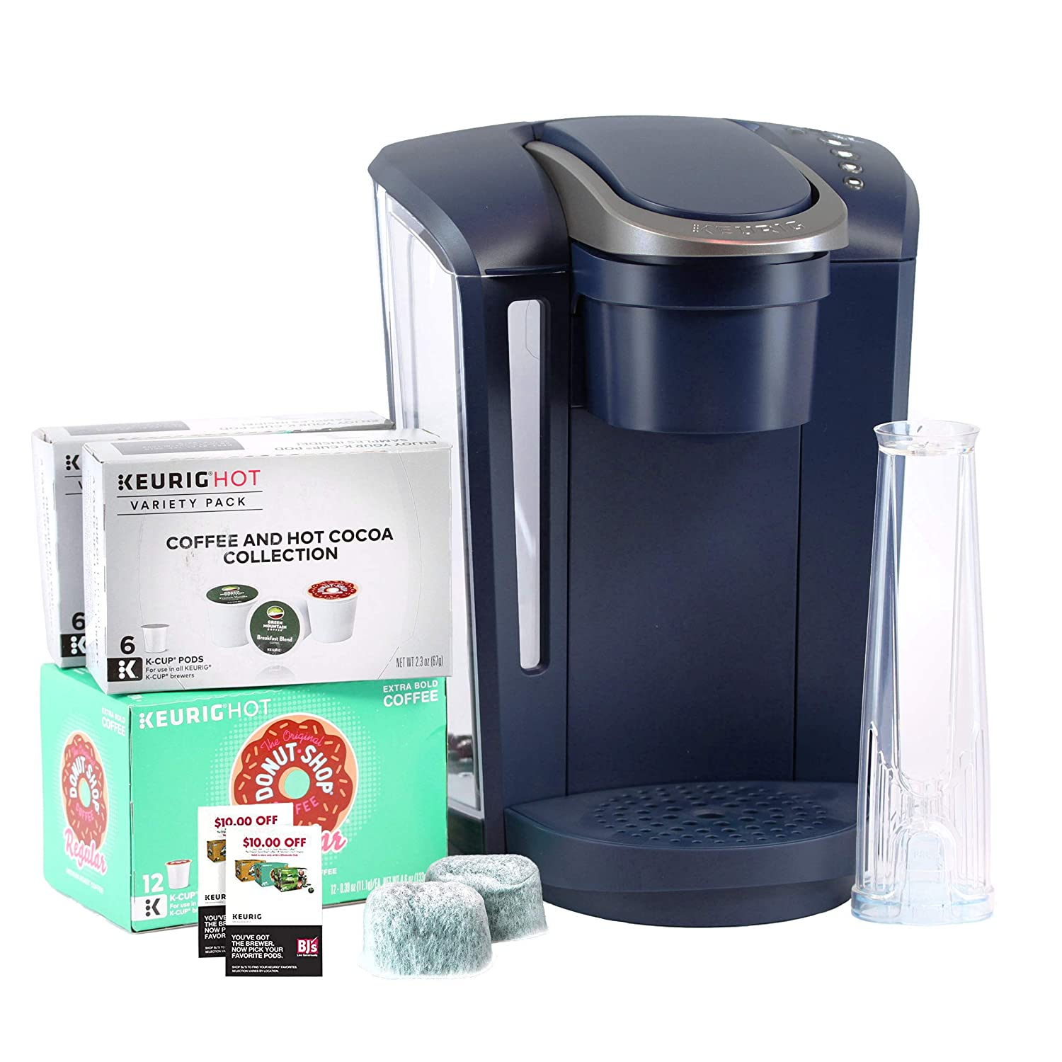Amazon.com  Keurig K-Select B Single Serve Coffee Maker with 24 K-Cups, 2  Water Filter Cartridges    20 Coupon - Navy  Kitchen   Dining 46cb95418e8e
