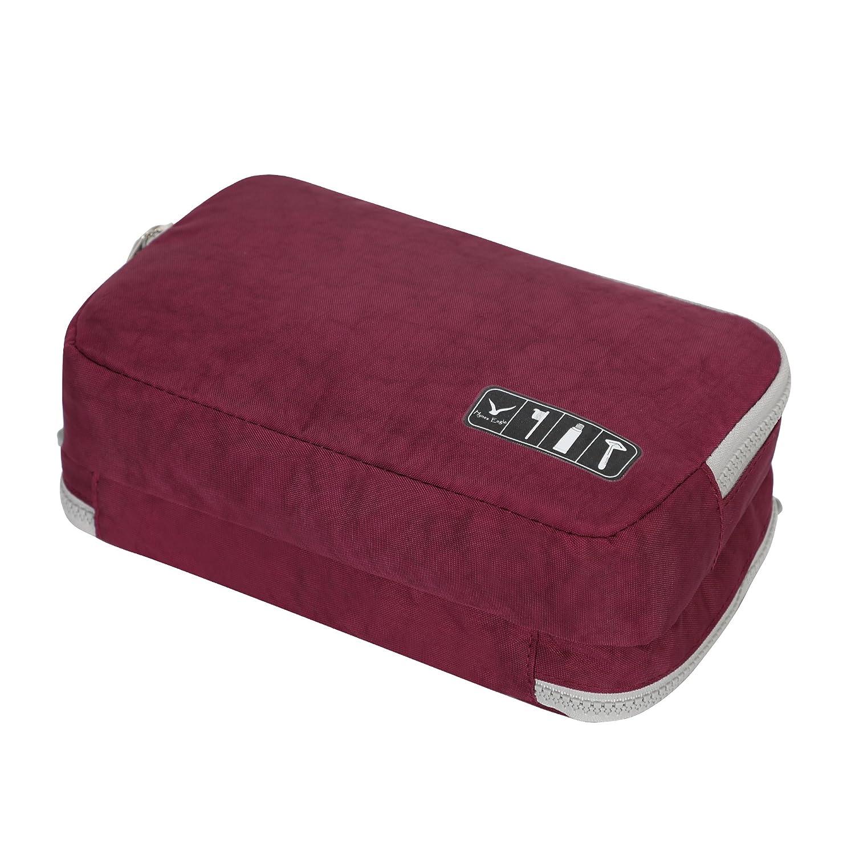 Hynes Eagle Toiletry Organizer Bag Travel Shaving Dopp Kit Cosmetic Case Makeup Pouch Purple