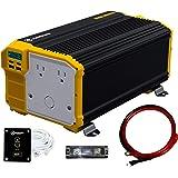 Krieger 3000 Watts Power Inverter 12V to 110V, Modified Sine Wave Car Inverter, Dual 110 Volt AC Outlets, Hardwire Kit…