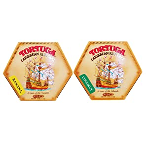 Tortuga Caribbean Rum Cake 4 oz Banana & Coconut(2 PACK) - Perfect Gourmet Gift for Holidays