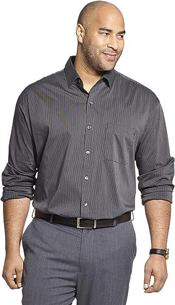 Van Heusen - Camisa de Manga Larga para Hombre, Color Negro/Caqui/Gris: Amazon.es: Ropa y accesorios