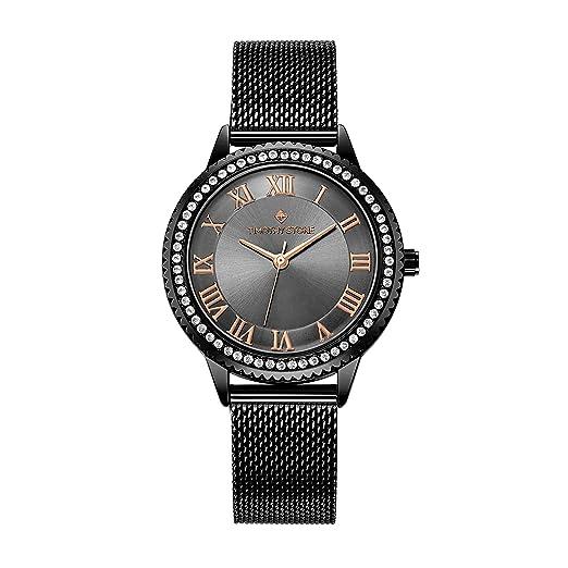Reloj Timothy Stone Collection para Mujer Parker Reloj Milanese para Mujer con Malla, Negro: Amazon.es: Relojes