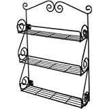 Spectrum Diversified Scroll Wall-Mounted Traditional Spice Rack Organizer for Cabinet & Kitchen, 3-Tier, Beauty & Nail…