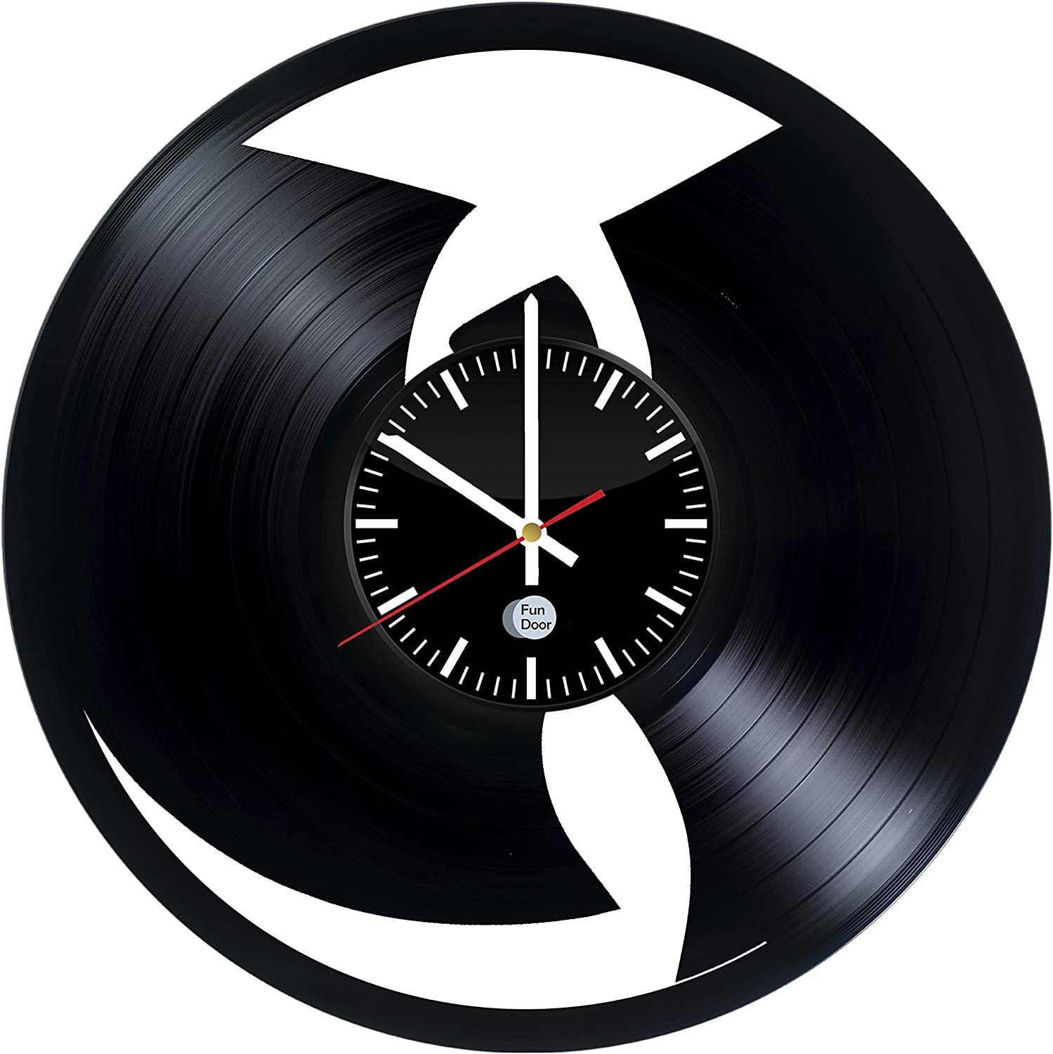 WU Tang Clan Vinyl Record Wall Clock - Get Unique Bedroom or Living Room Wall Decor - Gift Ideas for his and her - Original Modern Music Fan Art