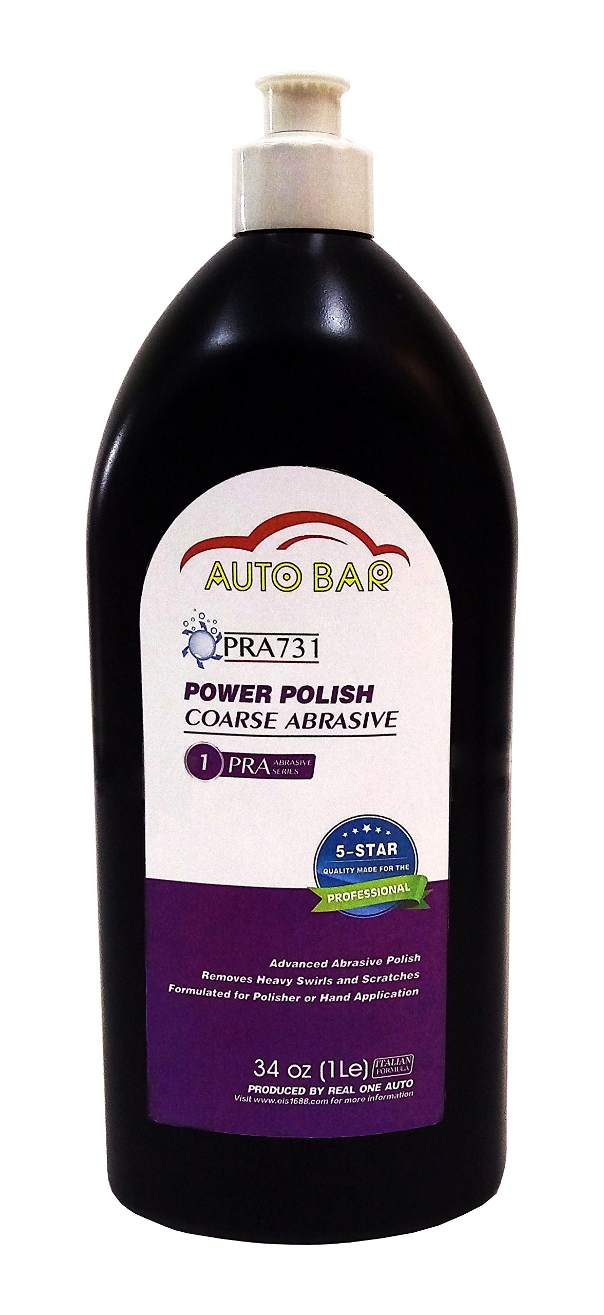 Heavy Cut Professional Grade Polish for Heavy Swirls/Scratches and Prep for Automotive Wax or Coating Large 34 oz Bottle