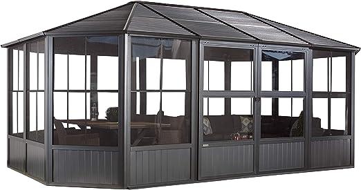 Sojag - Carpa, Cenador & Jardín de invierno Charleston de aluminio // 384 x 594 x 281 cm (LxAxH)// Solarium para invierno y verano.: Amazon.es: Jardín